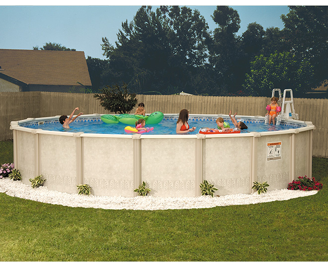 Aqua quip doughboy auburn breeze above ground swimming pool seattle store for Doughboy above ground swimming pools